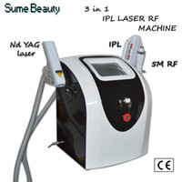 Wholesale E Light Yag - Portable 3 in 1 e light 5m rf nd yag laser for hair and tatoo removal machine