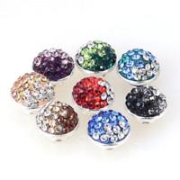 Wholesale Kameleon Bracelet - ne set of fimo crystal jewelpops,fits for kameleon diy bracelets,necklace,ring,925 silver plating,assorted color jewelpops Jewelry Findin...