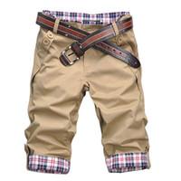 Wholesale Combat Cargo Shorts - Wholesale-New! New! New!UK Mens Shorts Soul Chino Knee Length Jeans Cargo Combat Cotton Plain Summer New