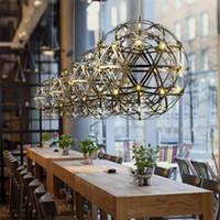 ingrosso luci di uve esterne-Lampade a sospensione Modern Rainmond Firework Bar Light Lampada a sospensione a LED in acciaio inox per bar / ristorante Lamparas Lustre