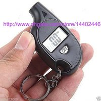 300pcs Mini Keychain LCD Écran Numérique Tire Tire Air Pressure Gauge Tester Key Ring pour Auto Car 5-150PSI Bike Motorcycle