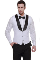 Wholesale Satin Vest Wholesale - New Arrival Groom Vests Groomsmens Best Man Vest Custom Made Size and Color Three Buttons Wedding Prom Dinner Waistcoat K232