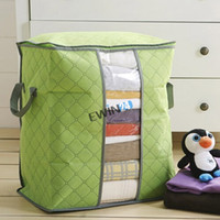 Wholesale Bedding Fabrics Wholesale - Storage Bags For Clothing Blanket Pillow Soft and Breathable Non-woven Fabrics New PackFlexible Storage Bag Tote