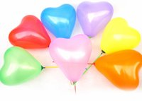 Wholesale Yellow Heart Balloons - 7'' 0.7g Colorful Peach Heart Balloon Latex Thicken For Valentine's Day Wedding Anniversary Party Balloons Decoration Animals 100PCS LOT