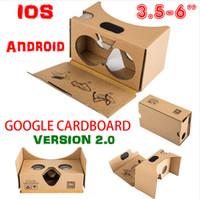 s6 edge plus smartphone venda por atacado-Mais novo google papelão 2.0 v2 óculos 3d vr valência qualidade max fit 6 polegada para o smartphone ios android iphone 6 6 s plus 5 s s6 borda dhl