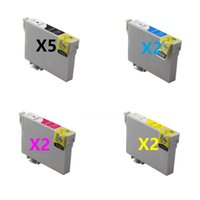 Wholesale T1334 Epson - Value pack, 2 sets plus extra 3BK for Stylus T22 T25 TX120 inkjet ink cartridge T1331-T1334,free postage