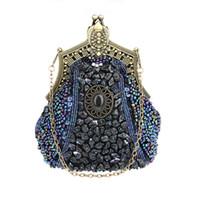 ingrosso nuove frizioni fatte a mano-Sacchetto di sera delle donne della borsa di sera delle donne di nuovo modo dell'annata di lusso elegante borsa di frizione elegante di lusso con la borsa della catena per la festa nuziale