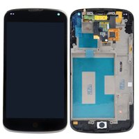 Für LG Optimus Google Nexus 4 E960 LCD Display Touchscreen Mit Rahmen Digitizer Assembly Ersatz DHL Freeshipping