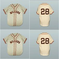 Wholesale 1951 S - 28 Willie Mays Minneapolis Millers 1951 Home Baseball Jersey Replica Throwback High Quality Free Shipping Cheap Authentic Baseball Jerseys