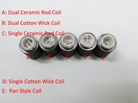 Wholesale Ego Cartomizer Replacements - Dual Wax Skillet Coil Wax vaporizer Coil Head for Skillet M7 eGo-D Vaporizer Atomizer Replacement Core Coils head Cartomizer