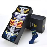 Wholesale Thick British Women - 5PSC  box Cheap but Good Quality British sock Winter Thick women Business Socks Brand Socks 100% cotton Wholesale Brand Mens Sock For Mens