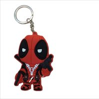 Wholesale Cheap Pvc Figures - 2016 New POP Keychain: Marvel - Deadpool Action Figure and big Face Best gift for Children Cheap price Hot Sale!