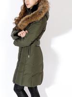 пальто с капюшоном для женщин оптовых-Женщины в пуховиках Триш. ДЛИННЫЙ ЗИМНИЙ ПУХОВИК МАДАМ ЛОНГ ПАРКИ РЕАЛЬНОГО МЕХА КАПЮШОН ВЫСТРОИЛИСЬ С МЕХОМ КРОЛИКА