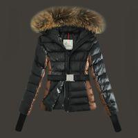 Wholesale Down Feather Jacket - 2017 fashion Winter Detachable big raccoon fur fur collar woman down jacket slim White duck down coats size S-XL