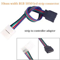 10MM Largura 4-Pin 4-Conductor RGB Led Strip-to-Controller Fêmea Socket Adaptador Conector Cabo de fio para SMD 5050 RGB Led Strip Lights