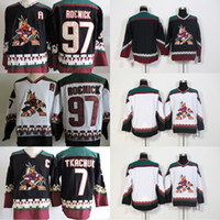 Wholesale Blue Aztec - Phoenix Coyotes Vintage Jersey 7 Keith Tkachuk 97 Jeremy Roenick Blank Starter Throwback 90s White Black Aztec AZ VTG Ice Hockey Jerseys