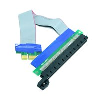pci e 1x riser al por mayor-Al por mayor- Riser PCI-E pcie PCI-Express PCI Express 1x 16x pci-e pcie x1 x16 Extensión Flex Cable Extensor Convertidor Adaptador de tarjeta vertical