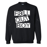 Crewneck Mantel Kaufen -Fall Out Boy Pullover Hip Hop Rock Band Street Sweatshirt Crewneck-Mann-Winter Tracksuits Druck Fall Out Boy Coat