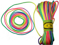 Wholesale Wholesale For Knotting Cord - rainbow mixed color braid rope diy necklaces bracelets cord for chiese knot jewelry making dacron 2.5mm 20m each piece jewelry findings 6pcs
