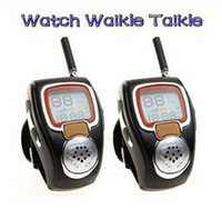 Wholesale Two Way Radio Watches - Wholesale-2pc Fashion wrist Watch Walkie talkie RD-008 Two Way Radio Built-in Microphone Free talker adjustable free ship