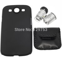 Wholesale S3 Cases Led - Wholesale-60X Zoom Microscope with LED Light & Plastic Case for Samsung Galaxy S3 i9300 i9305, Free Shipping