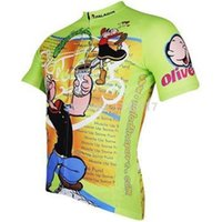 Cyclisme long jersey vert Prix-2014 Popeye Paladin Tee-shirt cycliste cycliste pour homme Jersey Sport Cycle Jersey manches courtes manches courtes bleu-vert / manches longues