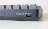 Wholesale Cherry Mini Keyboard - Wholesale-KBC Poker 2 61keys Mechanical Mini Keyboard Cherry MX Red Switches W  PBT caps 60% PBT mini Dota 2