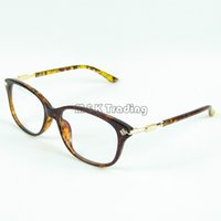 Wholesale Wholesale Designer Optical Frames - Designer Rhinestones Eyeglass Frame Fashion Optical Frame For Womens Good Quality 4 Colors In One Lot