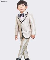 çiçek kız kat toptan satış-Yeni erkek küçük erkek takım elbise şampanya takım elbise düğün çiçek kız elbise çocuk elbise takım elbise, bahar c 2 parça (ceket + pantolon) custom made
