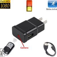 Wholesale Remote Control Webcams - 1080P Full HD Plug Camera S303 hidden mini socket camera Remote control Covert Spy Camera Webcam with Motion Detection