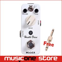 Wholesale Mooer Free Shipping - Mooer Hustle Drive Distortion Pedal Ultra wide dynamic range and extraordinary open tube Full metal shell True bypass Free shipping MU0330