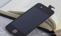 iphone 4s bedava toptan satış-Yüksek kalite LCD iPhone 4 4 s dokunmatik ekran ile Tam set Montaj iphone 4/4 screplacement LCD ekran Beyaz ve siyah renk ücretsiz DHL