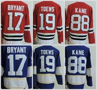 Wholesale Cool Long Shorts - Chicago #17 Kris Bryant 19 Jonathan Toews 88 Patrick Kane Long Sleeve Jerseys Cool Base Stitched Blue Red