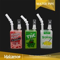 Wholesale Liquid Smoke Oil - Glass bongs oil rigs Liquid Style Glass Cereal Box oil Dab Rig glass bong smoking pipe glass water pipe 3 colors