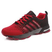 Wholesale Cheap Plus Size Shoes - Hot Sales Fashion Light Breathable cheap Lace-up Men Shoes Human Race Casual Shoes For Male Black Red Plus Size 35-46