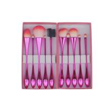 Wholesale Kits Maquillaje - Princess Rose 10pcs Water Droplets Small Waist Makeup Brushes Professional Make Up Brush Box Set Red Brochas Maquillaje