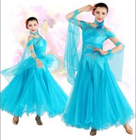 Wholesale ballroom dance fashion - Ballroom Dance Dress 2016 Dresses For Ballroom Dancing Standard Sex Stage Costume Performance Women Fashion Ballroom Dresses FN018-7