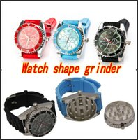 Wholesale Grinder Watches - 2015 Fashion Classic grinder watch Watch shape Tobacco grinder somking grinder Wristwatch watch Real Grinde Factory Price DHL free