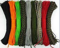 Wholesale Climbing Lanyards - 100FT pc 30m 550 paracord Parachute Cord Lanyard Rope Mil Spec Type III 7 Strand core 50 colors for option