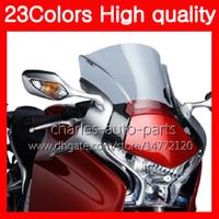 Wholesale Plastic Windscreens - 23Colors Motorcycle Windscreen For HONDA VFR1200 10 11 12 13 VFR1200 RR VFR 1200 RR 2010 2011 2012 2013 Chrome Black Clear Smoke Windshield