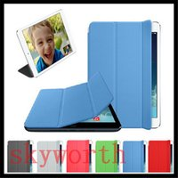 Wholesale Magnetic Ipad3 Case - Magnetic Smart Cover for Ipad Pro 9.7 Mini 4 ipad 2 3 4 5 6 ipad air 2 Leather Polyurethane Case Stand