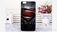 Novas caixas de telefone móvel celular para Apple iPhone Superman Batman Bat Man Capitão Capa americana Capa Shell para Iphone 6 6s 6plus