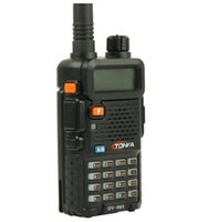 Оптово-8W Dual Band VHF + UHF 136-174MHz400-470MHz Two Way Радио Tonfa UV-985 VOX DTMF Walkie Talkie Бесплатная доставка
