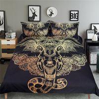 Wholesale Comforter Sets Queen Sale - 2017 Hot Sale Elephant Head Mandala Printing 3pcs Duvet Cover Polyester Bedding Set (no blanket or sheet)