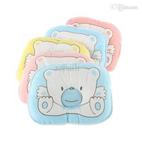 Wholesale Neck Pillow Kid - Bear Soft Cotton Kids Baby Pillow Sleep Positioner Prevent Flat Head Pillow Wholesale for Free Shipping