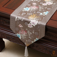 Wholesale Damask Print - Happy Patchwork Printed Table Runner Chinese style Luxury Cover Cloth High Grade Damask Coffee Table Cloth Dining Table Mat Home Decoration