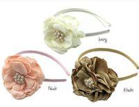 Wholesale Headwear Sweet - Kids hair sticks children pearl stereo simulation flower headwear sweet girls party princess hair accessories christmas children gift R1009