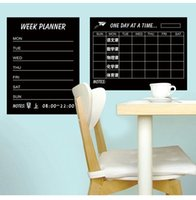 Calendrier hebdomadaire Blackbord Plan mensuel Black Chalkboards Sticker autocollant amovible Decal Plan de craie Deco Week Planner