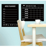Wholesale Weekly Planners - Weekly schedule Blackbord & Monthly Plan Black Chalkboards Removable Wall Sticker Decal Chalk Boards Deco Week Planner