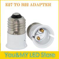 Wholesale Light Bulb Holder Fitting - B22 convert to E27 Lamp Holder Bulb Bases Adapter for LED Light Socket connecter Converter Fitting Light Lamp